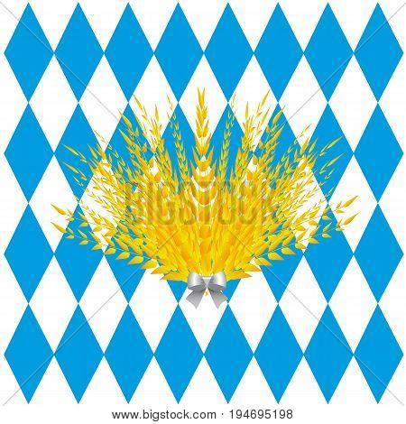 Background of lozenges Oktoberfest. Vector illustration for a site