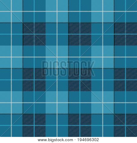 Vector seamless pattern. High detailed Scottish tartan traditional checkered British fabric or plaid pattern. Design of fabric. Blue jeans checkered material. Seamless pattern