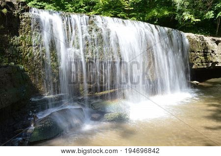 A waterfall at Nerstrand Big Woods State Park in Minnesota