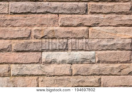 Stone Wall, long oblong shapes in beige and browns
