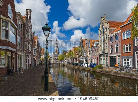 Alkmaar cityscape - Netherlands - architecture background