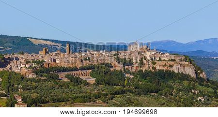 Orvieto medieval town in Italy - architecture background