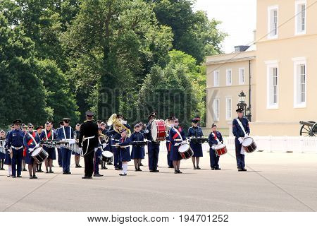 Sandhurst, Uk - 18Th June 2017: Marching Band Of The Church Lads & Church Girls Brigade Performing A