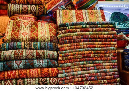 Old hand made carpet and rugs of traditional types