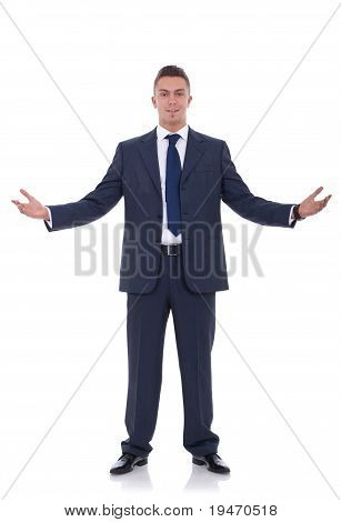 Business Man With Open Arms