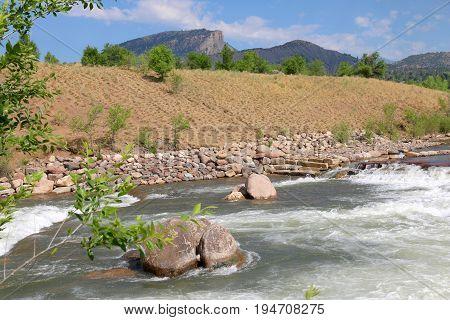 Summer at Animas River in Durango, CO