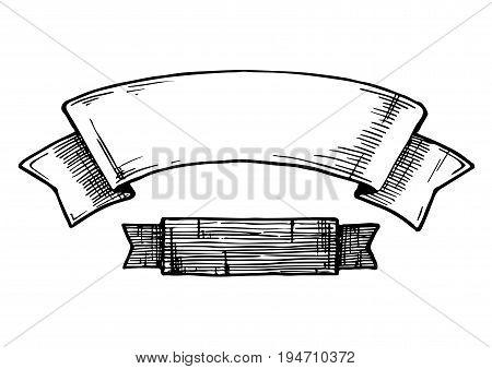 Illustration Of  Vintage Ribbons