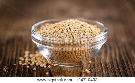 Portion Of Mustard Seeds