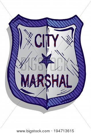 Illustration Of Marshal Badge