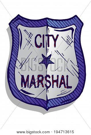 Illustration Of Marshal Badge