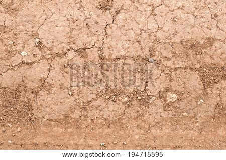 Cracked earth background, dry, brown and parched