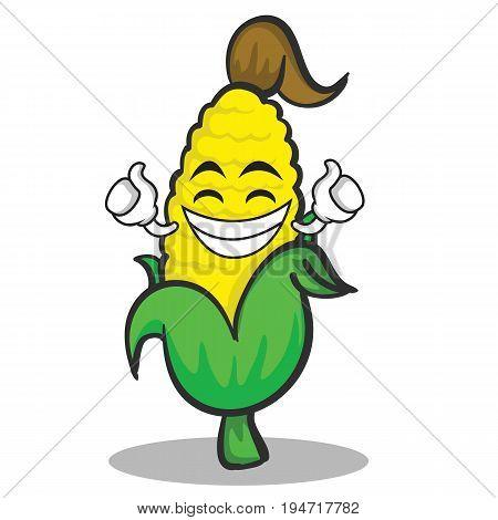 Proud sweet corn character cartoon vector illustration