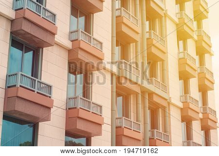 Modern Apartment Buildings Exteriors Or Contemporary Architecture Office In The City