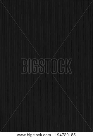 Cord Black Paper Corrugated Texture Background.