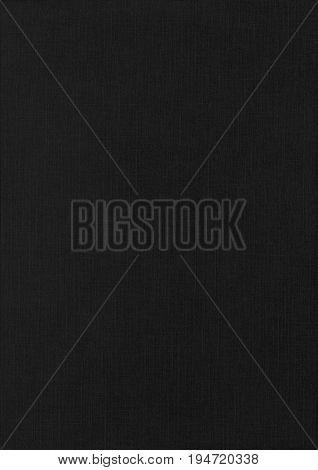 Linen Black Paper Corrugated Texture Background.