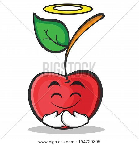 Innocent cherry character cartoon style vector illustration
