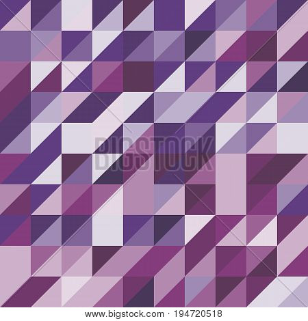 Abstract background with purple tone triangles, stock vector