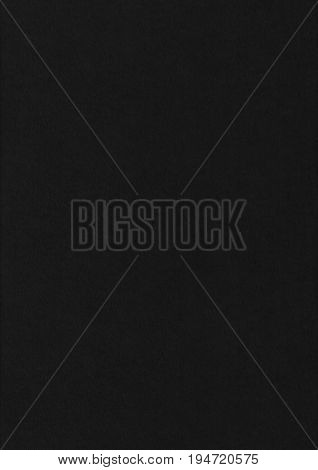 Unembossed Black Paper Corrugated Texture Background.