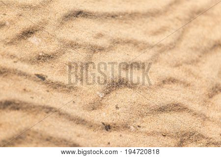 sand under water in nature as background