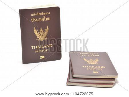 Image of thai passport isolated on white background