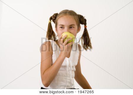 Girl Eating Apple I