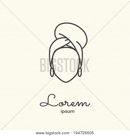 Logo template - brazilian woman. EPS 10 Isolated object.
