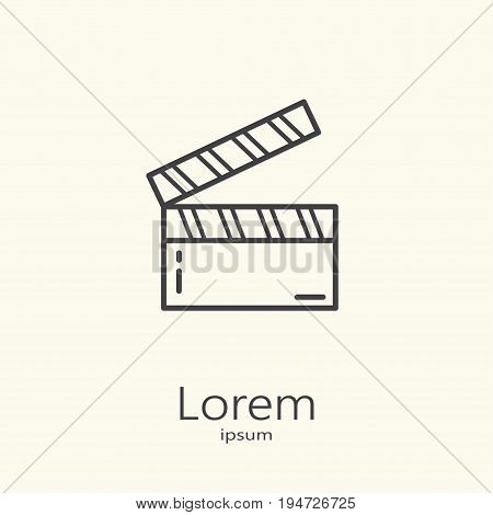 Logo Template - Clapper For Movie