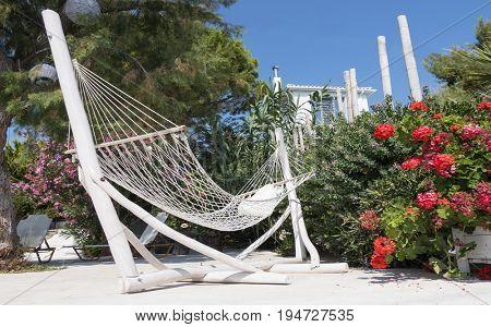 Hammock overlooking the Ionian Sea on the island of Zakynthos