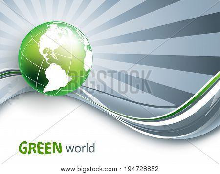 environmental vector background. Vector  concept with globe. Eps10