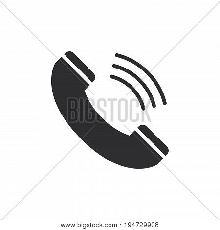 Call icon vector filled flat sign solid pictogram isolated on white. Phone handset symbol logo illustration. Pixel perfect graphics