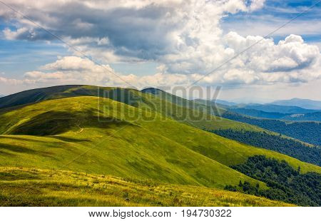 Rolling Hillsides Of Carpathian Mountain Ridge