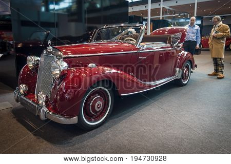 STUTTGART GERMANY- MARCH 17 2016: Luxury car Mercedes-Benz 170S (W191)