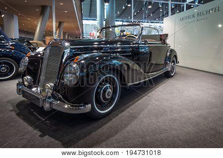 STUTTGART GERMANY- MARCH 17 2016: Full-size luxury car Mercedes-Benz 220
