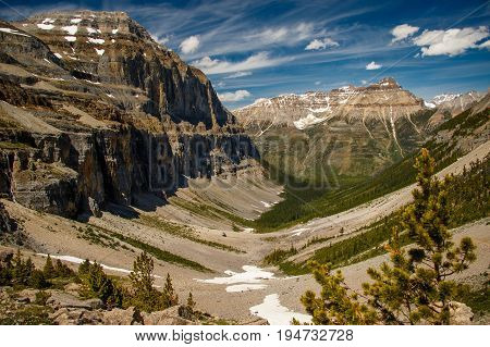 The Valley of Stanley Glacier in Yoho National Park, Alberta, Canada