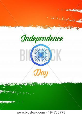 Independence Day of India . Template for card, invitation, flyer for India national holidays.15th of August India Independence Day