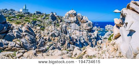Amazing granite rock formations in Capo Testa in north Sardinia, Italy.