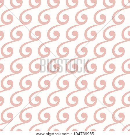 Seamless ornament. Modern background. Geometric pattern with repeating pink waves