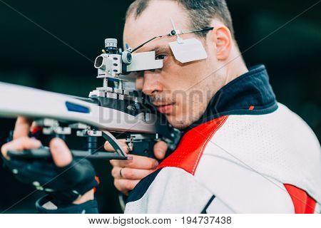 Sport Shooting Training - Free Rifle, Toned Image