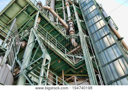 Detailed industrial background of heavy industry chemical factory
