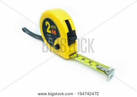 Measuring Tape, Isolated On A White Background
