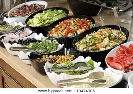Salad buffet - a series of RESTAURANT images.