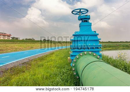 Control main valve Water control main valve Pipeline distribution Water pipeline distribution.
