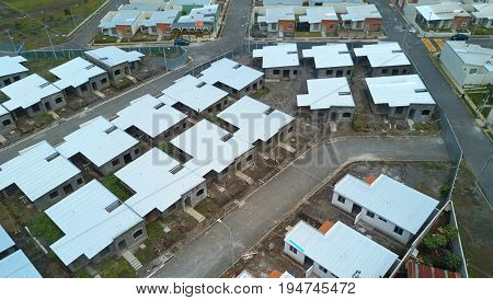 Building new district of houses in residential area