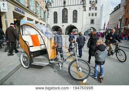 Cycle Rickshaw In Munich