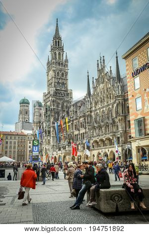 People At Marienplatz