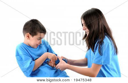 Cute boy and father fighting over game controller - a series of VIDEO GAME images.