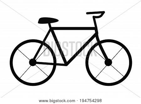 bicycle on white background. bicycle sign. flat style for graphic design.