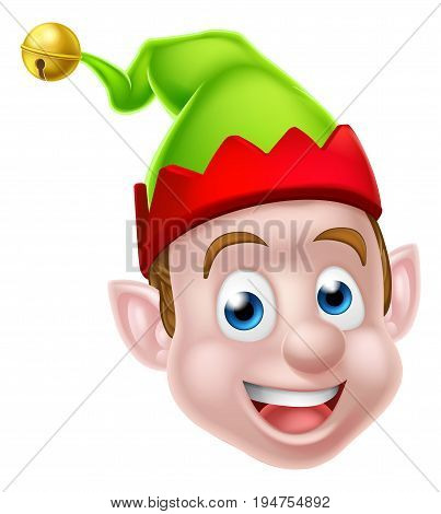 Face of a Christmas Elf or one of Santas Christmas helpers