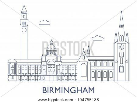 Birmingham. The Most Famous Buildings Of The City