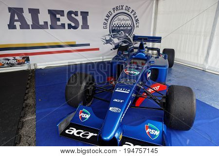 Magny-cours, France, July 1, 2017 : Prost Grand Prix F1 In Exhibition. The First French Historic Gra